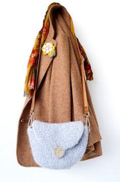 Felted Bag Crochet Pattern PDF Tutorial Purse UK by LittleDoolally