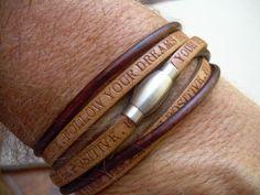 Follow your Dreams Triple Wrap Leather by UrbanSurvivalGearUSA