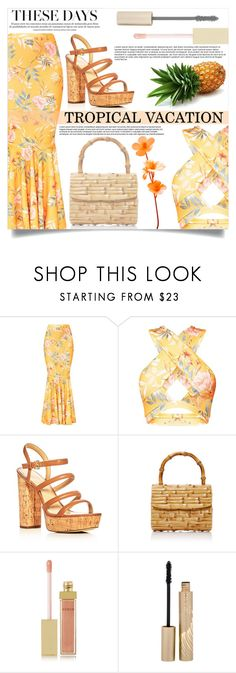 """""""Tropical Vacation"""" by mistressofdarkness ❤ liked on Polyvore featuring MICHAEL Michael Kors, Glorinha Paranagua, AERIN and Stila"""
