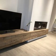 Living Room Decor Fireplace, Build A Fireplace, Fireplace Built Ins, Living Room Colors, Fireplace Design, New Living Room, Living Room Designs, Minimalist Fireplace, Open Plan Kitchen Living Room