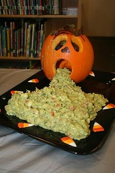 Chunky guacamole...no recipe...great idea! The Limbaugh Lunch: Halloween Food