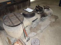 The 'kamado', a traditional Japanese stove, is an efficient cooker.