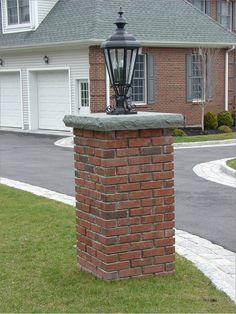 Wall And Pillar Ideas Brick Columns Driveway Circular Stone Entrance