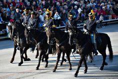 Buffalo Soldiers riding down Colorado Blvd during the 2014 parade.