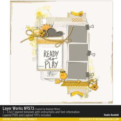 Layer Works No. 573 #template #scrapbook #readymade #digital #sketch #designerdigitals @kayleigh