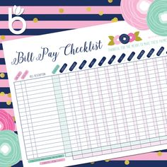 Monthly Bill Tracker Instant Download Pdf  House And Home