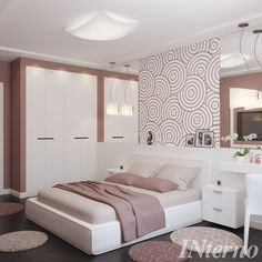 Girl Bedroom Designs, Modern Bedroom Design, Bed Design, Home Room Design, Interior Design Living Room, Home Decor Bedroom, Home Living Room, Stylish Bedroom, Luxurious Bedrooms
