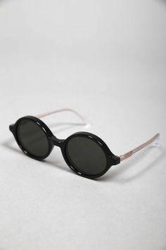 DOC BLACK CLEAR SUN #lunettes #de #soleil #ronde #homme #femme #men #women  #sunglasses #handmade #Carl #Zeiss #Graduate #Han #Kjobenhavn 135€