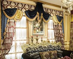 European-style luxury embroidered curtains