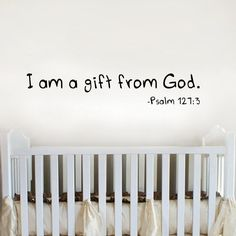 Christian Wall Quotes And Bible Verse Decals For Home And Church - Church nursery wall decals