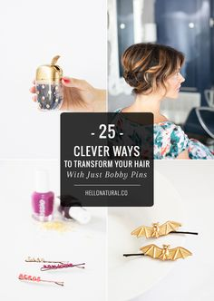 25 Ways to Transform Your Hair With Just Bobby Pins