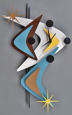 """Go retro with a colorful wall clock, like this one. (It reminds us of """"old"""" Vegas.)"""