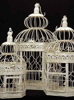 Wedding Bird Cage Centerpieces For All Party Events (Set of 3) | eBay. Fill with crumbled neon tissue paper. Shabby Chic Projects You Can Do Yourself How To | DIY Project Difficulty: Simple MaritimeVintage.com    #ShabbyChic #Shabby #chic