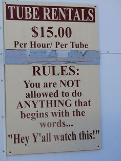 They should probably put this up at Current River!