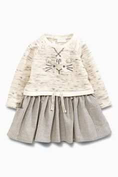 Buy Grey Cat Dress (0mths-2yrs) online today at Next: United States of America
