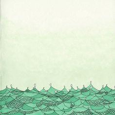 green sea. by society 6