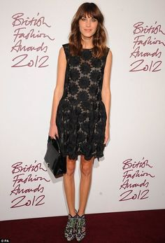 Alexa Chung at the British Fashion Awards. TopShelfClothes.com