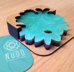 Flower coasters, Blue Coasters, Acrylic coasters, Acrylic Laser Cut Personalized…