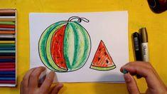 Как нарисовать АРБУЗ / Урок рисования для детей от 3 лет