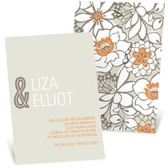 Blissful Blooms -- Vintage Floral Wedding Invitations