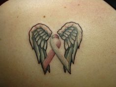 Inspiring Cancer Ribbon Tattoos: Cancer Ribbon Tattoo With Wing ~ Tattoo Ideas Inspiration