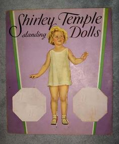 1935 Saalfield Shirley Temple Standing Dolls No 1715