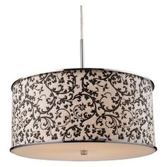 Floral ceiling pendant available at Statements In Tile/Lighting/Kitchens/Flooring.