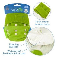 My favorite cloth diaper; works great with the organic cotton snap-in inserts but also works great as a cover with a trifolded prefold or flat. Love the stay dry insert