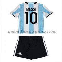 Camisetas Futbol Niños Argentina Lionel Messi 10 Primera Equipación 2016-17 af5aaf938b65f