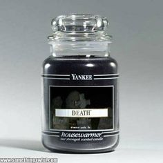 Death Scented Yankee Candle. Even this stodgy, conservative company is getting in on the #Goth game.