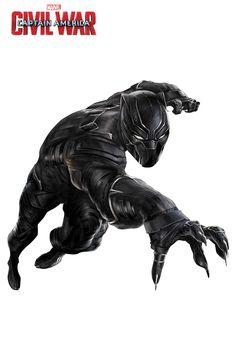 'Captain America: Civil War' (2016) High Resolution Character Art - 'Black Panther'
