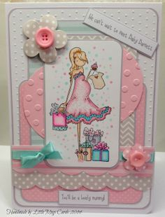 Bespoke card using Stamping Bella Uptown Girls stamp