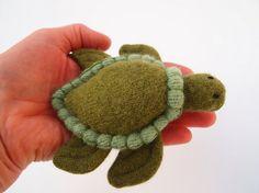 Turtle toy waldorf wool by EvesLittleEarthlings on Etsy, $23.00