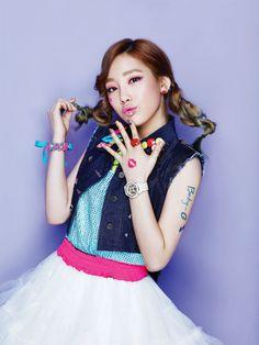 Girls' Generation's Taeyeon Casio Baby-G Spring 2013 Ad Campaing