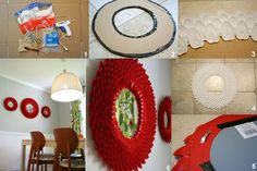 How To Make A Plastic Spoon Mirror, spray paint it so it looks like a sunflower (black, orange, yellow)