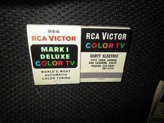 1960s Matchbook RCA Victor Mark 1 Deluxe World's by kookykitsch