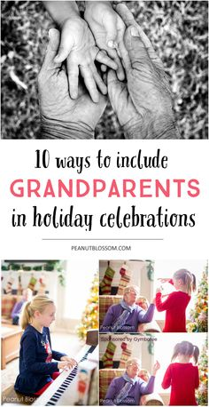 Whether grandma & grandpa live in town or far away, love these 10 tips for including the grandparents in your family holiday traditions. Such easy ideas that will make Grandma's day!!