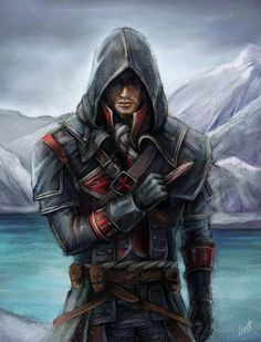 Made for AC Rogue fanart contest AC Rogue Assassins Creed Rogue, Assassins Creed Black Flag, Assassin's Creed Videos, Connor Kenway, Arno Dorian, Assassin's Creed Brotherhood, Special Images, Japan Art, Rogues
