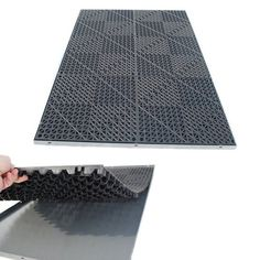 "These heavy duty ""Drain Thru"" mats raise your dog up off the floor to keep him/her from sitting in a pool of water or it's own accidents. Its open design allows liquid to pass thru to the crate pan so"