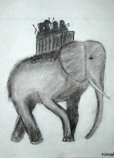 Waldorf ~ 6th grade ~ Drawing ~ Charcoal