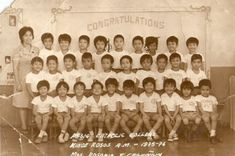 Kindergarten, Pasig Catholic College, 1976 #kasaysayan #pinoy #classpicture Catholic Colleges, Class Pictures, Pinoy, Over The Years, Congratulations, Kindergarten, Photo Wall, Frame, Projects