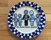 FAMILY DESIGN decoupage clocks made from recycled plates