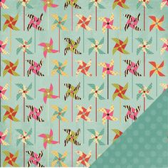 Three Bugs In a Rug - Ashtyn Collection - 12 x 12 Double Sided Paper - Pinwheel at Scrapbook.com $0.67