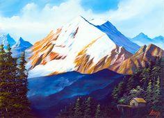 雪山と山小屋