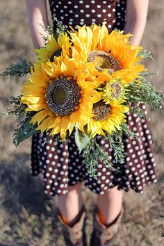 Large Rustic Yellow Sunflower Wedding by SouthernGirlWeddings, $110.00