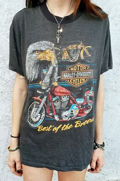 Best Of The Breed Paper Thin 80s Harley Tshirt