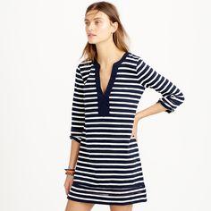 Embroidered three-quarter sleeve beach tunic in stripe : beach cover-ups | J.Crew