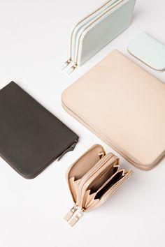wallet, coin purse, accessories, pastels, peach, blush, mint, charcoal