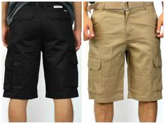 Two pairs of Cargo shorts for One low price Beige cargo and Black cargo. Deals #Cargoshorts #Cargo