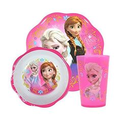 BPA Free Zak Fork /& Spoon Designs Kids 3pc Mealtime Set Featuring Disney Frozen Includes Elsa /& Anna Bowl Plus Bonus Frozen Character Stickers!